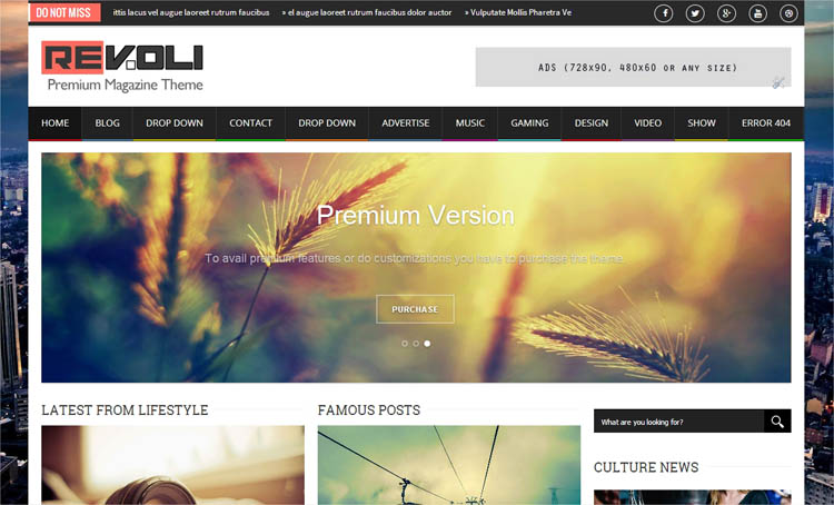 Revoli Blogger Template + Installation