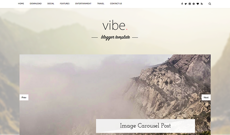 Vibe Blogger Template + Installation