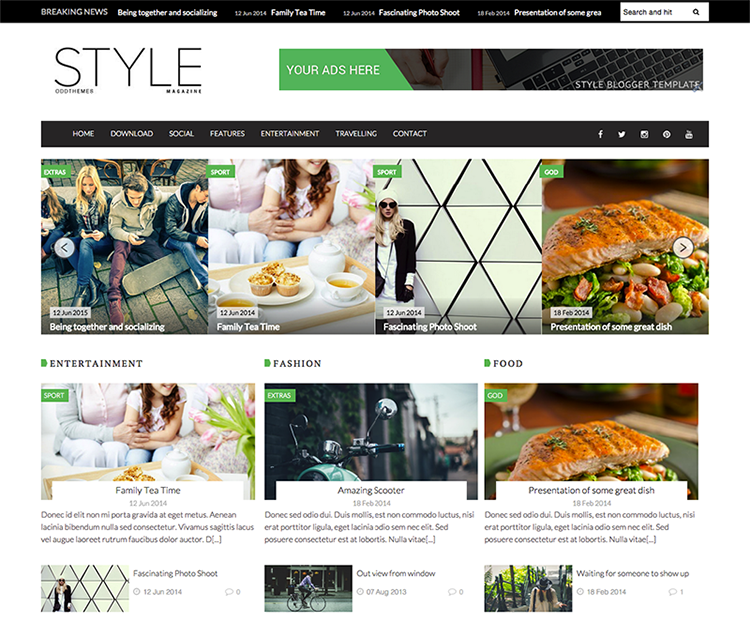 Style Blogger Template + Installation