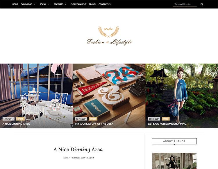 Lifestyle Blog Blogger Template