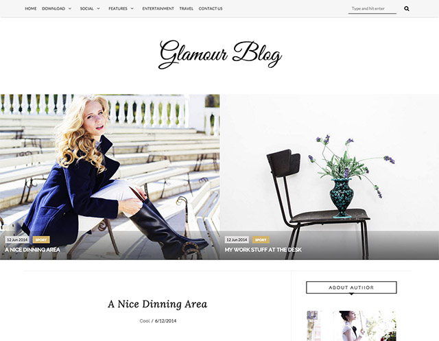 Blogger Template Glamour
