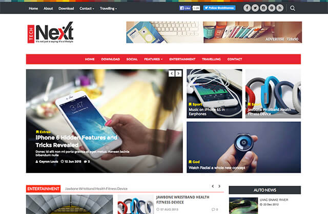Technext Magazine Blogger Template