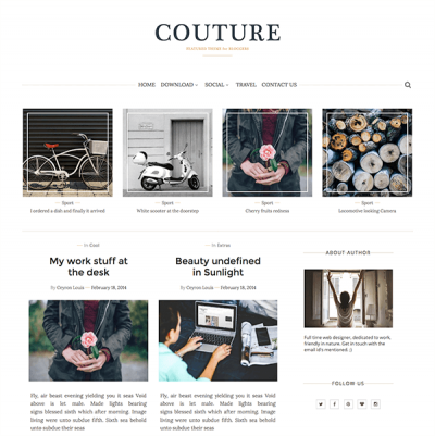 Couture Magazine Blogger Template