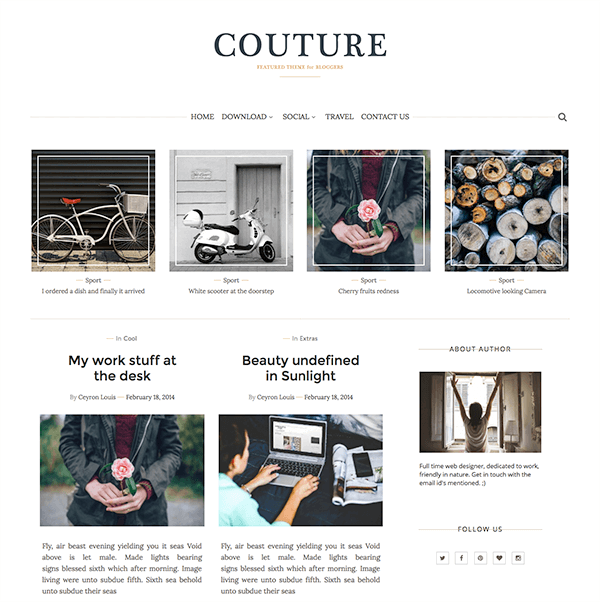 Couture Blogger Template + Installation