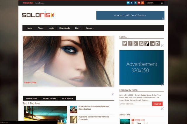 Soloris Blogger Template + Installation