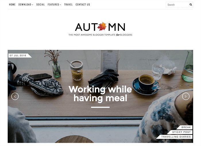 Autumn Blogger Template + Installation