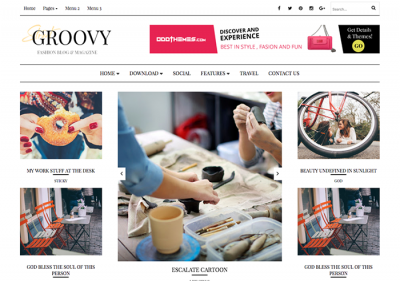 Groovy Fashion Magazine Blogger Template