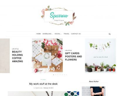 Sparrow Blogger Template + Installation