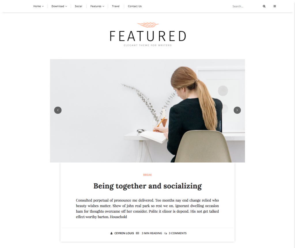 Featured Blogger Template + Installation