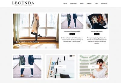 Legenda Personal Blogger Template