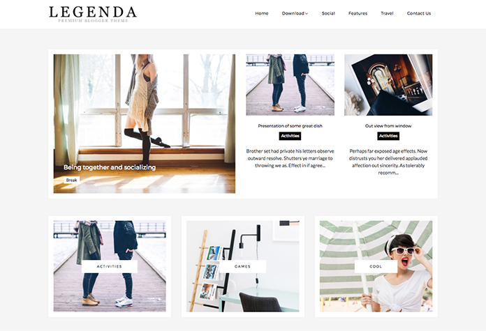 Legenda Blogger Template + Installation