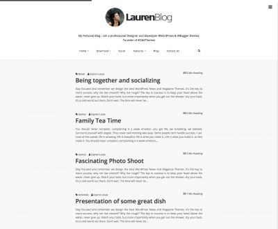 Lauren Blogger Template + Installation