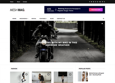 MeshMag Magazine Blogger Template + Installation