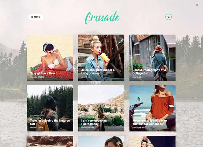 Crusade Photography Blogger Template + Installation