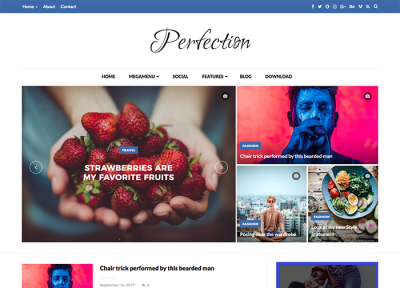 Perfection Premium Blogger Template + Installation
