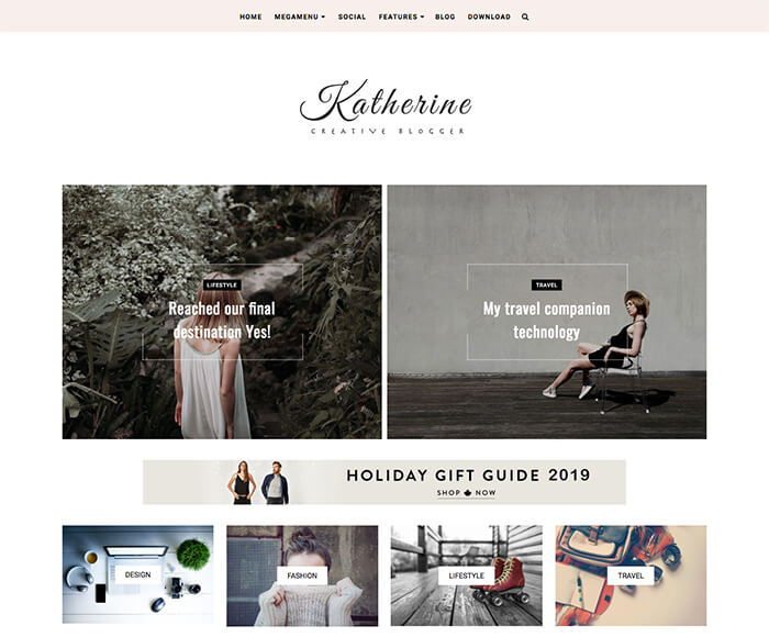 Katherine Blogger Theme 2019 + Installation