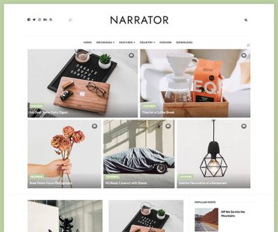 Narrator Personal Blogger Template