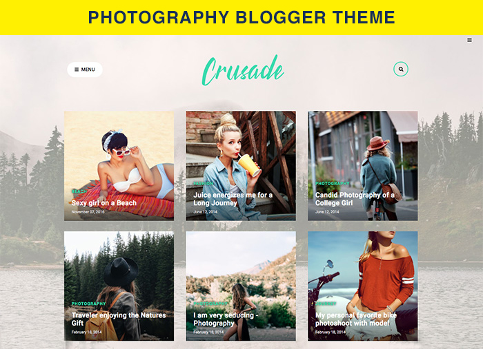 photography blogger theme
