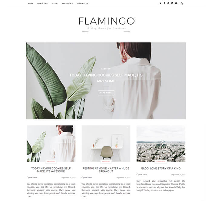 Flamingo Fashion Blogger Template