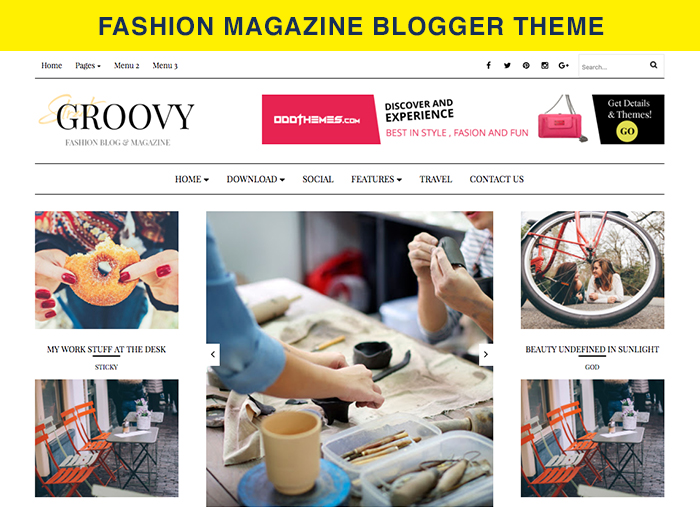 fashion magazine blogger theme