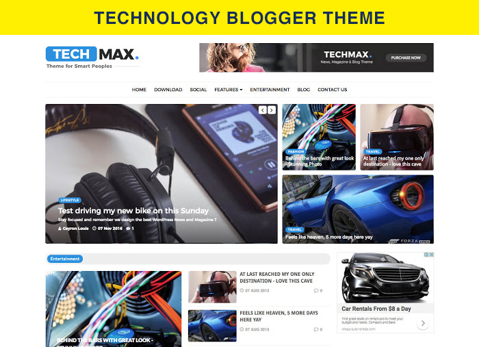 technology blogger theme