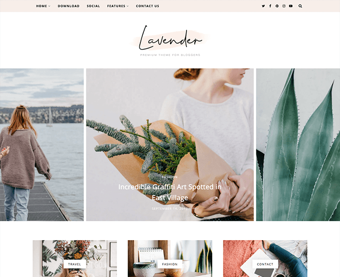 Lavender Personal Blogger Template + Installation