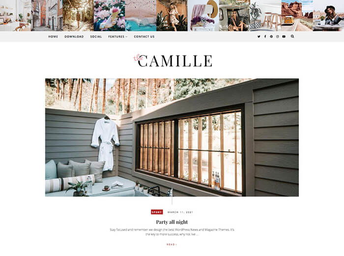 Camille Personal Blogger Theme + Installation