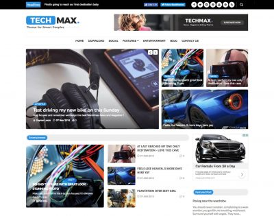 Techmax Technology Blogger Template + Installation