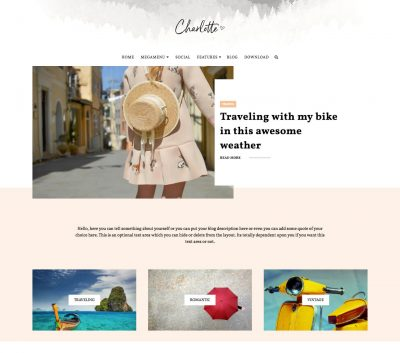 Charlotte Multipurpose Blogger Template + Installation
