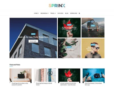 Sprinx Free Blogger Theme + Installation